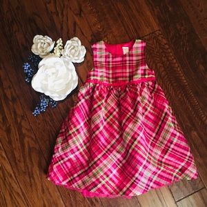 3T Pink Plaid dress